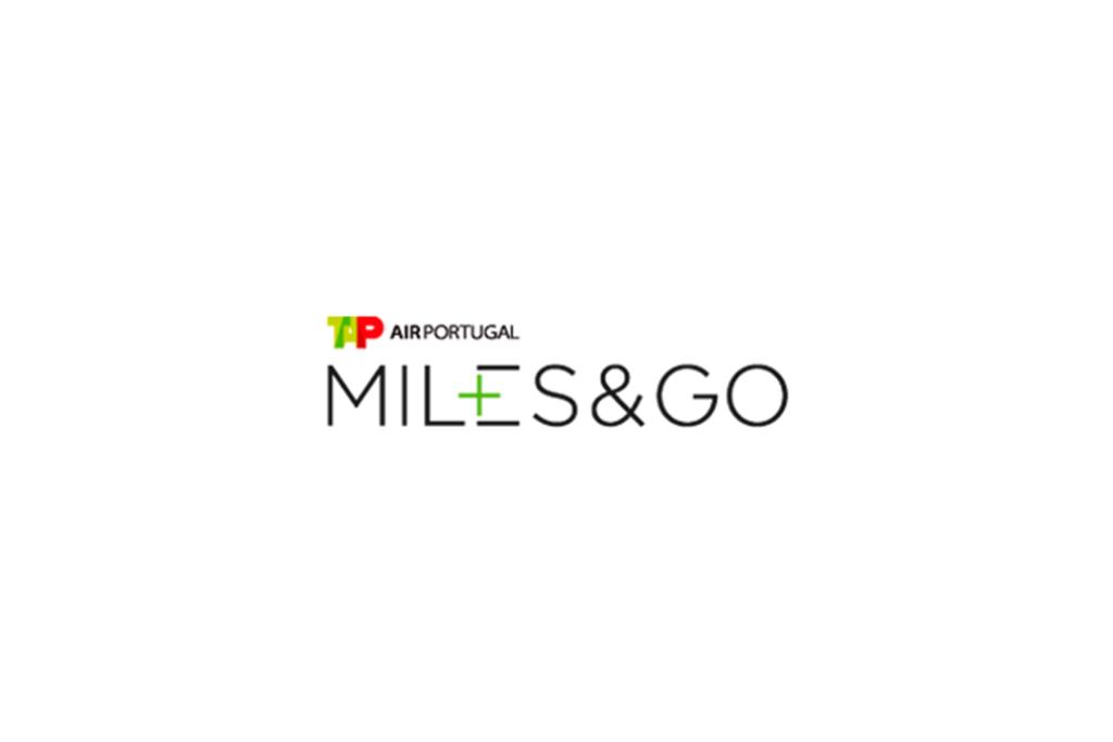 Miles&Go. Marca da empresa em preto, verde, branco e vermelho