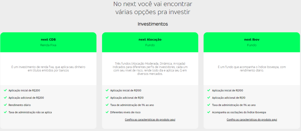 Investimentos Next