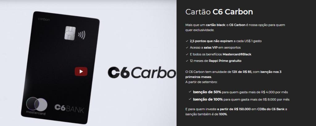 C6 Carbon: principais benefícios