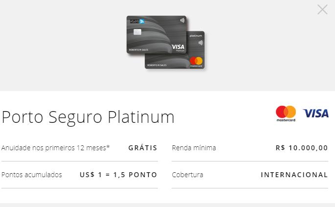 Cartão Porto Seguro Platinum