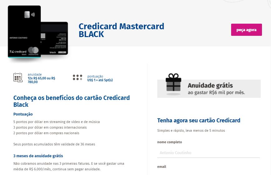 Benefícios Credicard Black
