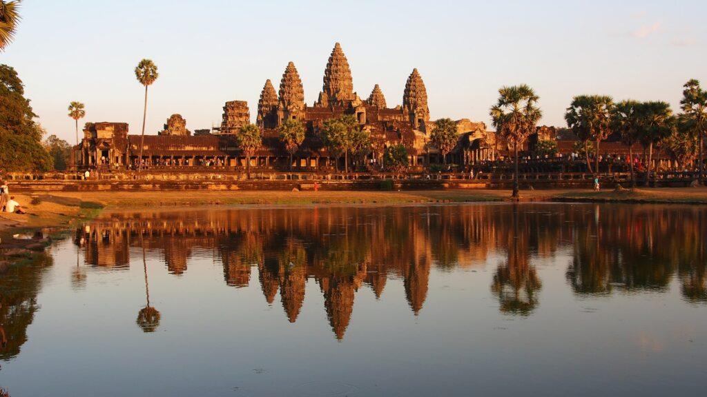 Templo Angkor Wat no Camboja