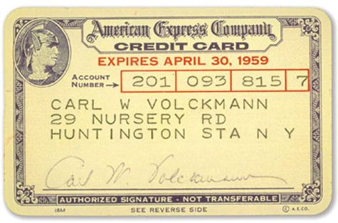Um dos primeiros cartões American Express