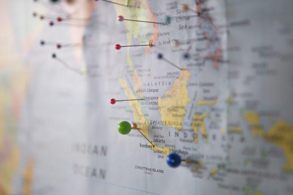 Escolher quantos países farão parte da sua viagem é essencial
