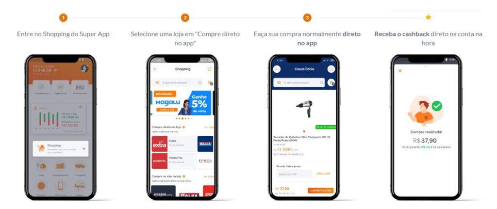 Como comprar pelo aplicativo Shopping Inter
